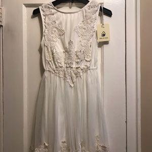 LF White crochet dress
